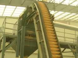 Steep conveying