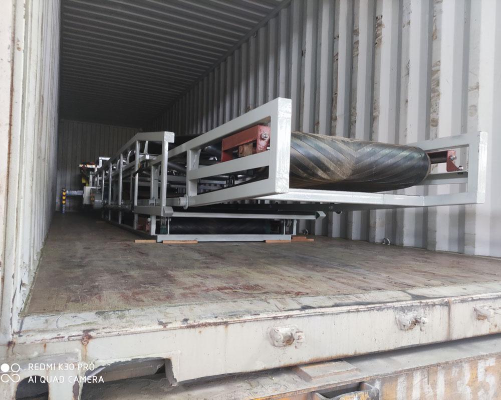 belt conveyor loader container loading