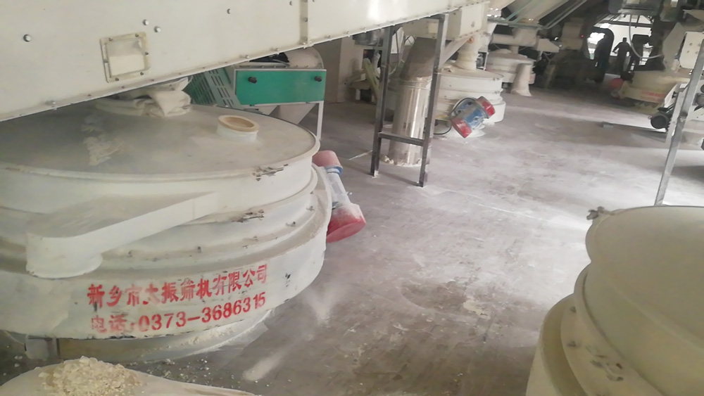 flow through inline sifter application